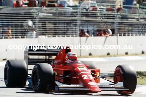 N. Mansell - Ferrari  -   AGP - Adelaide 1989