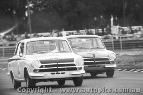 68022  -  David Weekes  -  Lotus Cortina - Warwick Farm 1968