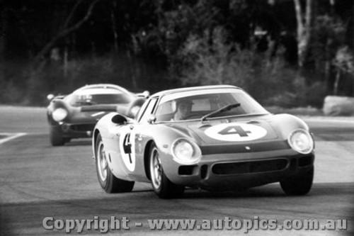67418  -  Brown /  Hawkins  -  Ferrari 250LM / Lola T70 MK3 Coupe   - Warwick Farm 1967