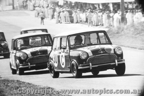 67708  -  Fall / Holden  -  Bathurst 1967 - Class C winner - Morris Cooper S - Closly followed by Makinen/French