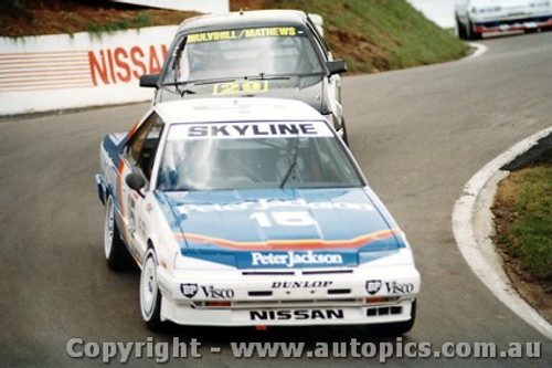 87705  -  G. Seton / J. Bowe     Bathurst 1987  2nd Outright   Nissan Skyline