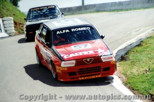 87709  -  C. Bond / L. Cesario    Bathurst 1987  Alfa Romeo 75