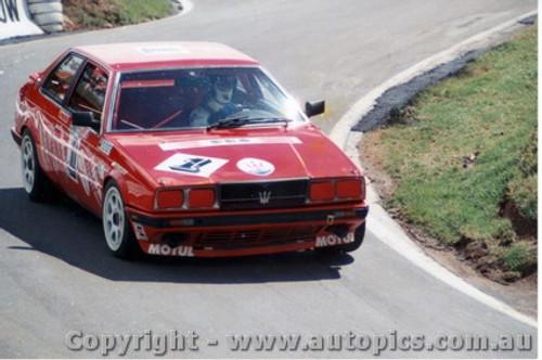 87711  -  B. Giacomelli / A. Hahne / M. Gunnella   Bathurst 1987  Maserati BiTurbo