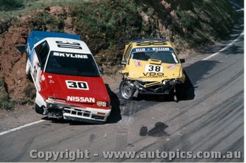 88705  -  Fury / Skaife & Ellis / Williams    Bathurst 1988   A strange way to park.
