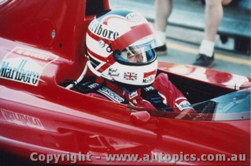 89512 - N. Mansell - Ferrari - AGP Adelaide 1989