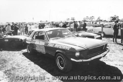 68047 - Red Dawson Ford Mustang - Warwick Farm 1968