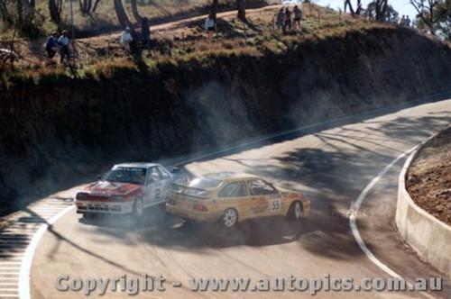 89729 - Richards / Skaife Nissan Skyline just miss  K. Waldock / B. Thomson  Ford Sierra RS500  -  Bathurst 1989