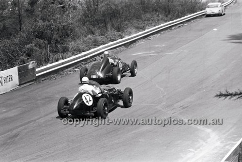 #42 B. McDougall, Schazum Healey & #30 H. MacDonald, Aston Holden - Catalina Park Katoomba - 8th November 1964 - Code 64-C81164- 62