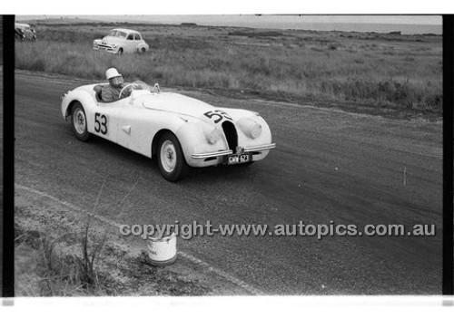 J. Haisley, Jaguar XK120 - Phillip Island - 22nd April 1957 - Code 57-PD-P22457-002