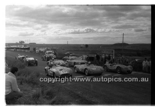 #12 Harry Firth, Triumph, #7 N. Hamilton, Porsche & #19 S. Thompson - Phillip Island - 22nd April 1957 - Code 57-PD-P22457-007