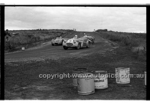 A. J. Lock, Triumph TR3 - Phillip Island - 22nd April 1957 - Code 57-PD-P22457-015