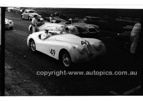 349 N. S. Norway & #53 J. Haisley, Jaguar XK120 - Phillip Island - 22nd April 1957 - Code 57-PD-P22457-067