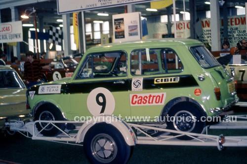 70844 - Works Mini, Melbourne Car Show 1970 - Photographer Alan Smith