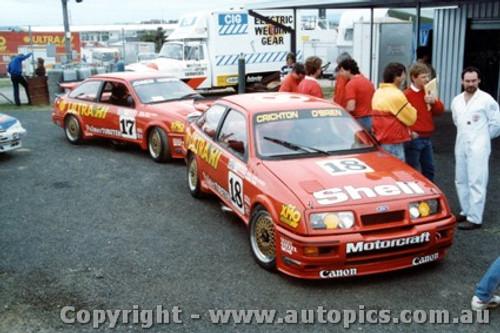 87727 - N. Crichton / C. OBrien - D. Johnson / G. Hansford - Ford Sierra - Bathurst 1987