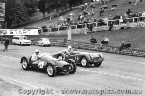 58416 - W. Leech M.M. Holden & A. Jack Triumph TR3 - Geelong Speed Trials 1958