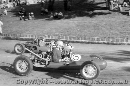 59506 - #6 J. Fish - Walton JAP #55 A. Staton - BRM  500 - Geelong Speed Trials 1959