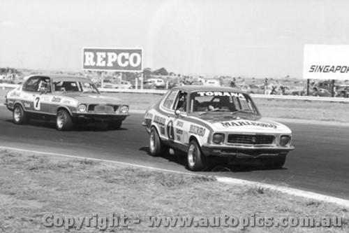 73054 - P. Brock and J. Harvey Holden LJ Torana XU1 - Calder 1973