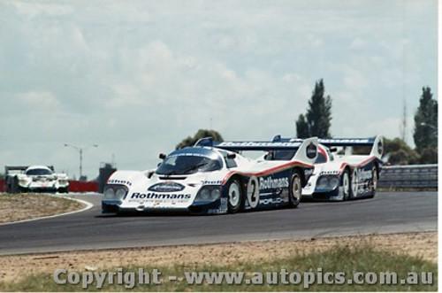 84402 - S. Bellof / D. Bell Porsche 956T & A. Jones / V. Schuppan Porsche 956T - Final Round of the World Sports Car Championship - Sandown 1984