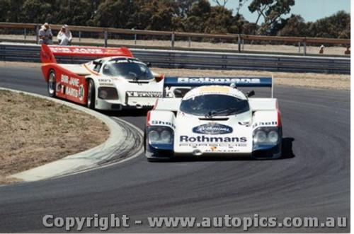 84405 - J. Brabham  Porsche 956T & A. Miedecke / C. Bond Porsche 956T - Final Round of the World Sports Car Championship - Sandown 1984