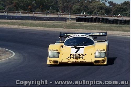84410 - H. Pescarolo / P.Belmondo / K. Ludwig Porsche 956T - Final Round of the World Sports Car Championship - Sandown 1984