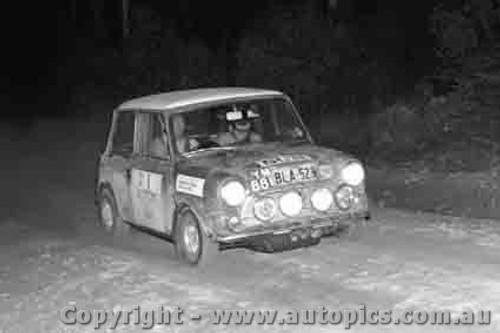 70954 - R. Cowan Morris Cooper S -  Rally of the Hills  October 1970