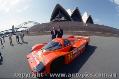 84420 - P. Brock / L. Perkins Porsche 956 - Taken in Sydney before leaving for Le Mans 1984