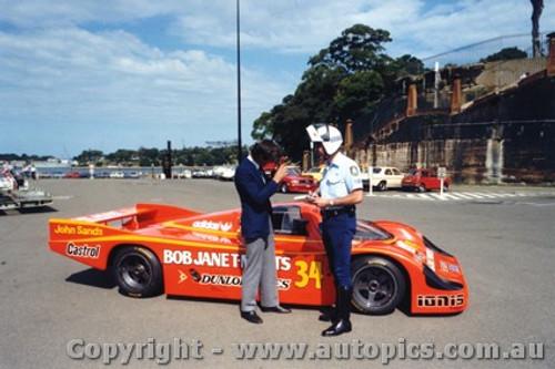 84421 - P. Brock / L. Perkins Porsche 956 - Taken in Sydney before leaving for Le Mans 1984