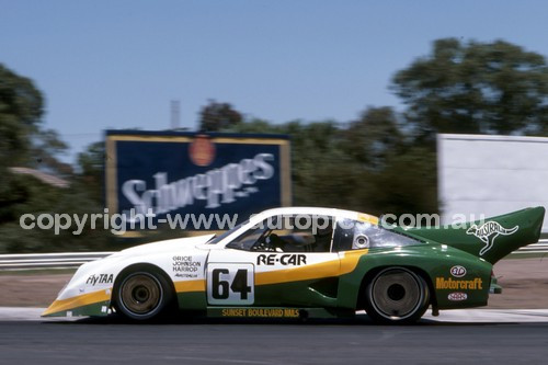 84428 - Allan Grice,  Dick Johnson & Ron Harrop, Chev Monza - Final Round of the World Sports Car Championship - Sandown 1984 - Photographer Peter D'Abbs
