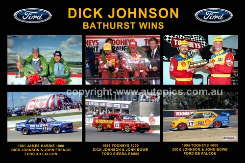 169 - Dick Johnson - His three Bathurst Wins - 1981 Falcon XD - 1989 Sierra - 1994 Falcon EB