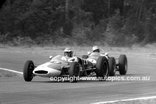 66486 - Graham Moore Lotus 20B & I Kaufman Elfin Ford - Warwick Farm 13th February 1966 - Photographer Lance J Ruting