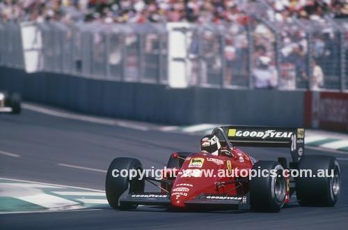 85522 - Stefan Johansson, Ferrari 156/85 -  Australian Grand Prix Adelaide 1985 - Photographer Ray Simpson