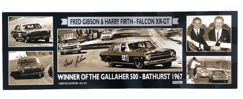 1162 - Falcon XR GT 1967 Bathurst Winner - Only 52 - Personally Signed By Fred Gibson