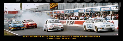 179 - Start of the Tooheys 1000 - Bathurst 1990 - A Panoramic Photo 30x10inches.