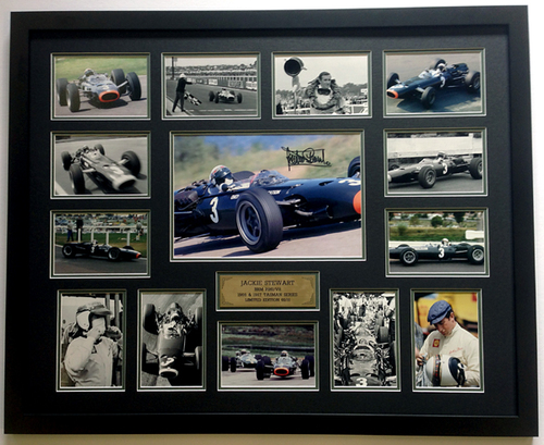 1158 - Jackie Stewart, Tasman Series 1966 & 67 - Limited Edition of 10 Only - Framed &  Personally Signed