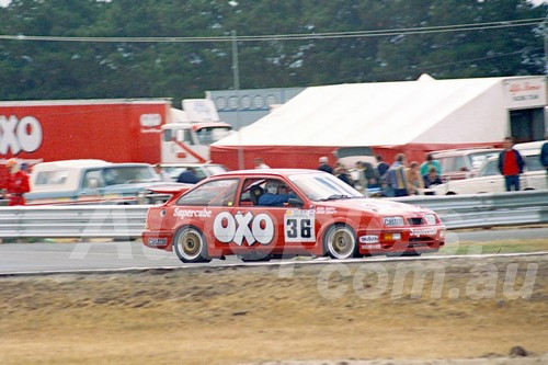 87087 - Don Smith, Ford Sierra -  Symmons Plains 8th March 1987 - Photographer Keith Midgley