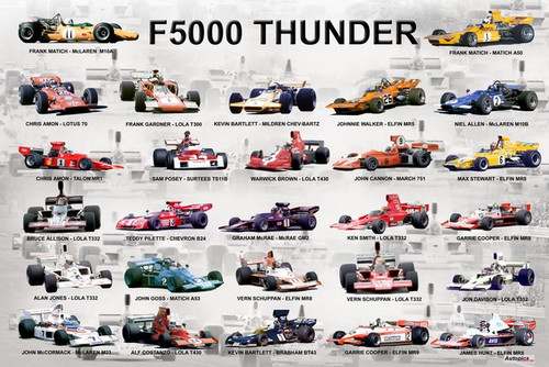 1177 - A collage of some of the F5000's that raced in Australia