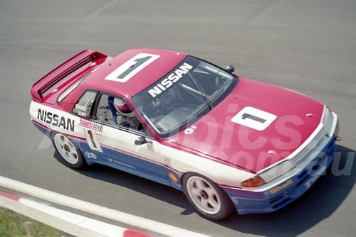 91782 - JIM RICHARDS / MARK SKAIFE, NISSAN SKYLINE R32 GT-R - 1991 Bathurst Tooheys 1000 - Photographer Ray Simpson
