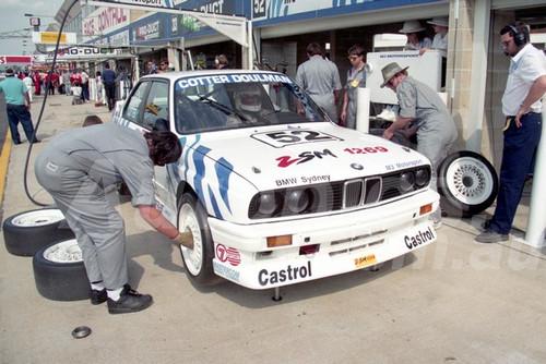 91899a - JOHN COTTER / PETER DOULMAN, BMW M3 - 1991 Bathurst Tooheys 1000 - Photographer Ray Simpson