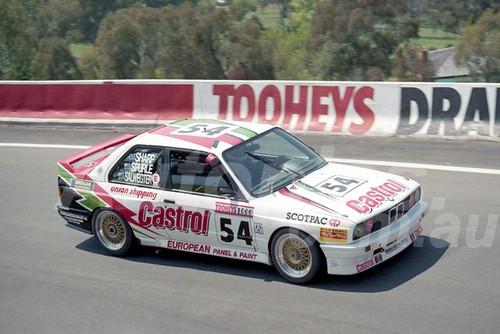 91904 - KEITH SHARP / IAN SPURLE / EDGAR SALWEGTER, BMW M3 - 1991 Bathurst Tooheys 1000 - Photographer Ray Simpson