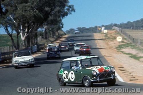 67736 - Paddy Hopkirk / Brian Foley  Morris Cooper S  - Sorensen / Young Triumph 2000 -  Bathurst 1967