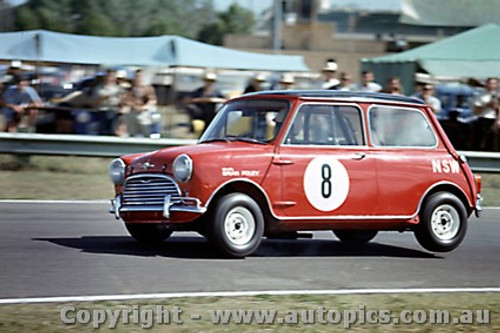 64039 - B. Foley  Morris Cooper S - Warwick Farm 1964 - Photographer Richard Austin