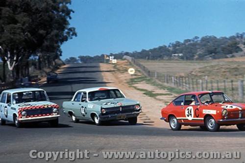 67739  - David Bye / Lyn Brown Fiat 850 - Herb Taylor / Don Smith Holden X2 - Bill Daly / George Murray Fiat 124 -  Bathurst  1967 - Photographer Paul Cross