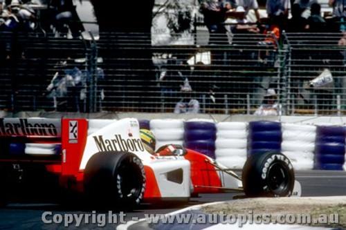 92504 - Ayrton Senna - McLaren Honda - Australian Grand Prix Adelaide 1992