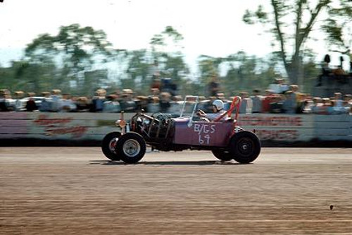 65901 - Wayne Robinson 1927 Ford - NSW Drag Champoinships Castlereagh June 1965 - Photographer Richard Austin