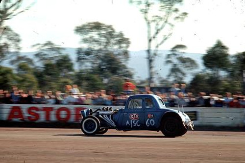 65904 - Hans Klemmer 1934 Ford Coupe - NSW Drag Champoinships Castlereagh June 1965 - Photographer Richard Austin