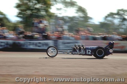 65905 - Max De Jersey Holden Dragster - NSW Drag Champoinships Castlereagh June 1965 - Photographer Richard Austin