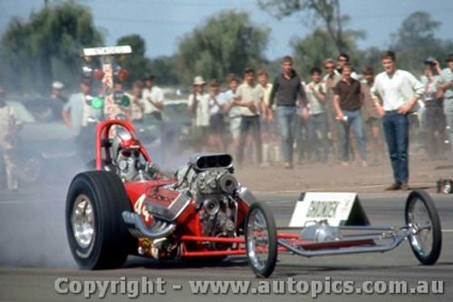 66908 -  Earl Poage USA - Hemi Chrysler AA/Gas Dragster  - Surfers Paradise 1966  - Photographer John Stanley