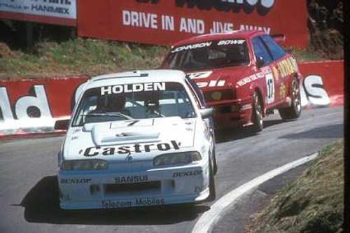 89772 - N. Crompton / W. Percy  HRT Commodore VL - D. Johnson / J. Bowe  Ford Sierra RS500  -  Bathurst 1989
