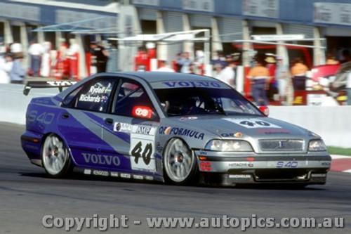 98706 - R. Rydell / J. Richards Volvo S40  1st Outright - AMP 1000 Bathurst 1998