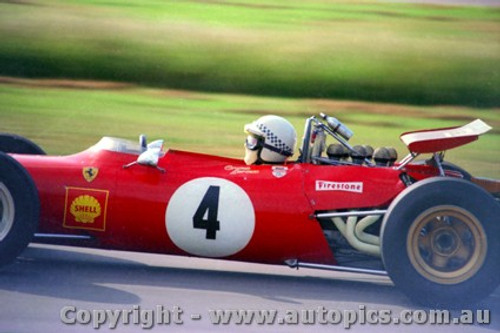 70563 - Graeme Lawrence Ferrari Dino V6 - Warwick Farm 15th Febuary 1970 - Photographer Jeff Nield